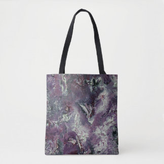 Funky Purple Abstract Art Bag