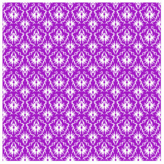 Funky Purple Damask Pattern with White. Cut Outs
