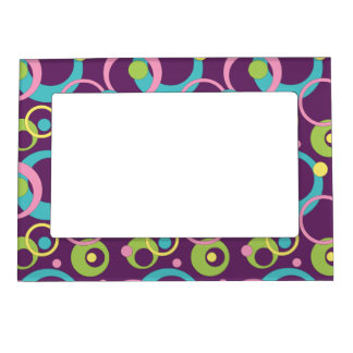 Funky Purple Photo Magnet Frame Magnet