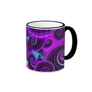 Funky Purple Swirl Fractal Art Pattern Mug