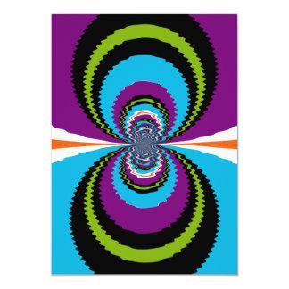 Funky Purple Teal Water Ripples Pattern 13 Cm X 18 Cm Invitation Card