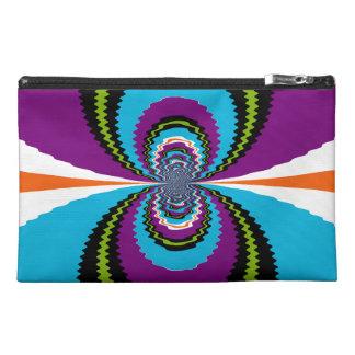 Funky Purple Teal Water Ripples Pattern Travel Accessories Bag