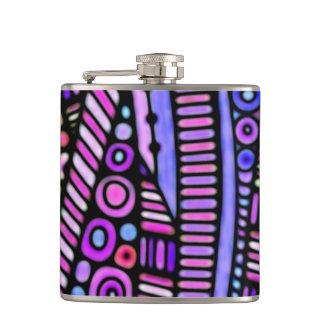 Funky Purple Tribal Pattern Flask