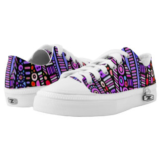 Funky Purple Tribal Pattern Low Tops