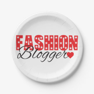 funky quotes fashion blogger paper plates 7 inch paper plate