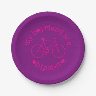 funky quotes my boyfriend hipster paper plates 7 inch paper plate