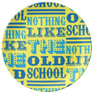 funky quotes old school decorative porcelain plate