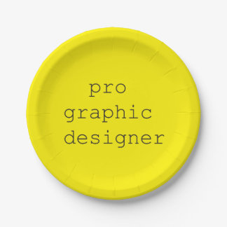 funky quotes pro graphic designer paper plates 7 inch paper plate