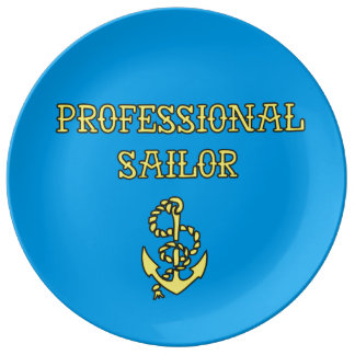funky quotes pro sailor decorative porcelain plate