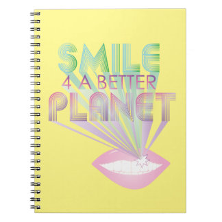 funky quotes smile 4 a better planet notebook