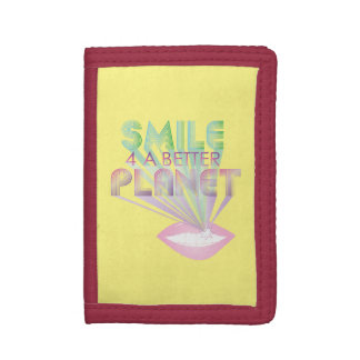 funky quotes smile 4 a better planet wallet