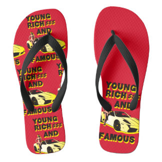 funky quotes young rich & famous flip flops