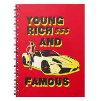 funky quotes young rich & famous notebook