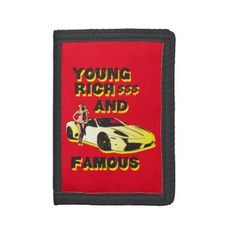 funky quotes young rich & famous wallet