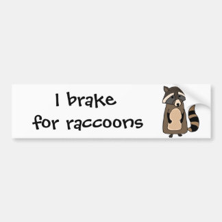 Funky Raccoon Cartoon Bumper Sticker