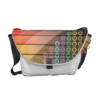 Funky Rainbow Abstract Commuter Bag