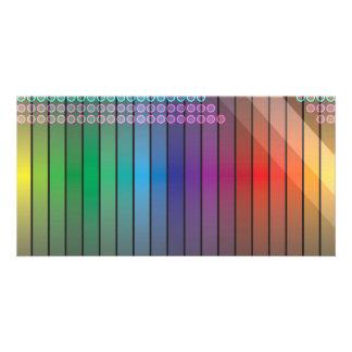 Funky Rainbow Abstract Custom Photo Card