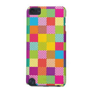 funky rainbow checkered blocks iPod touch (5th generation) covers