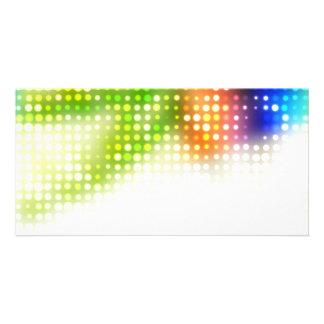 Funky Rainbow Dots Halftone Photo Card Template