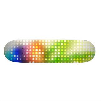 Funky Rainbow Dots Halftone Skate Board Decks