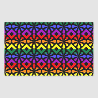 Funky Rainbow Gay Pride Geometric Abstracts (4) Stickers