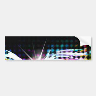 Funky Rainbow Halftone Bumper Sticker