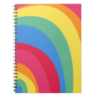 Funky Rainbow Notebooks