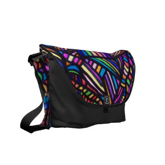 Funky Rainbow of Color Abstract Art Bag! #7 Commuter Bag