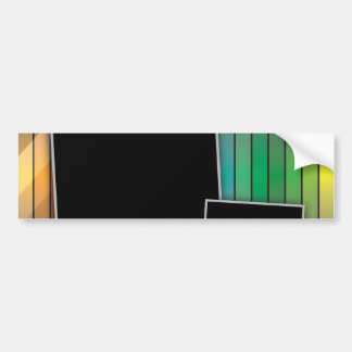 Funky rainbow page layout car bumper sticker