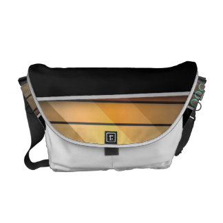 Funky rainbow page layout courier bag