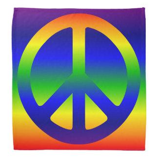 Funky Rainbow Peace Symbol Bandana