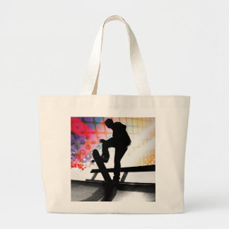 funky rainbow skater abstract bags