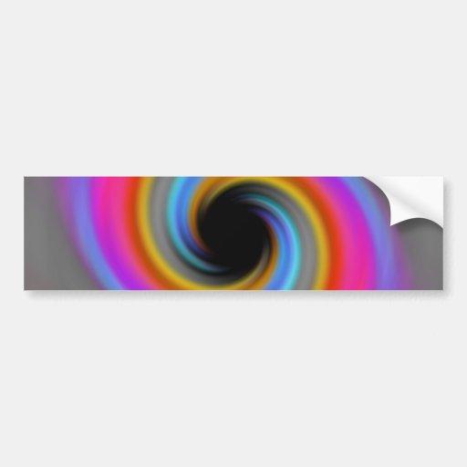 Funky Rainbow Swirl Design Bumper Stickers