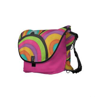 Funky Rainbows Messenger Bags