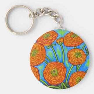 Funky Ranunculus Bouquet Key Chain