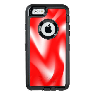 Funky Red and White Waves OtterBox iPhone 6/6s Case