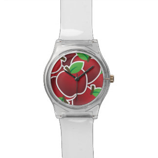 Funky red apple watch