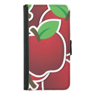 Funky red apples samsung galaxy s5 wallet case