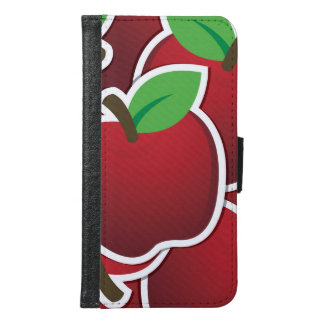 Funky red apples samsung galaxy s6 wallet case