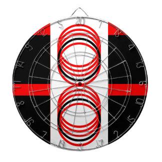 Funky Red Black Modern 4Cory Dartboard