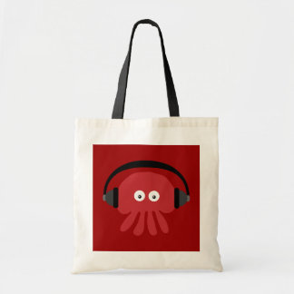 Funky Red Cartoon DJ Jellyfish Bag