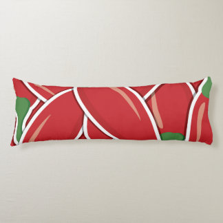 Funky red chilli peppers body cushion
