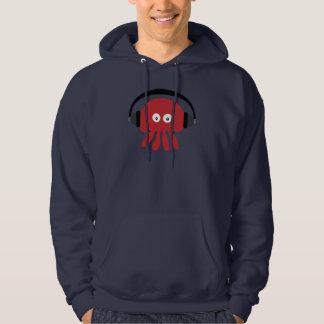 Funky Red DJ Jellyfish Navy Hoody
