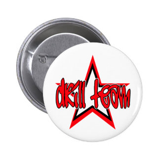 Funky Red Drill Team Star 6 Cm Round Badge