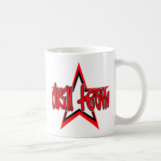 Funky Red Drill Team Star Mugs