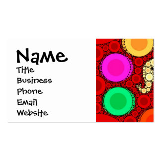 Funky Red Elephant Concentric Circles Mosaic Pack Of Standard Business Cards