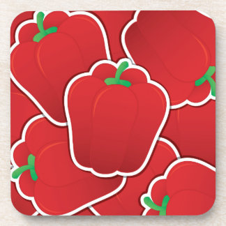 Funky red pepper coaster