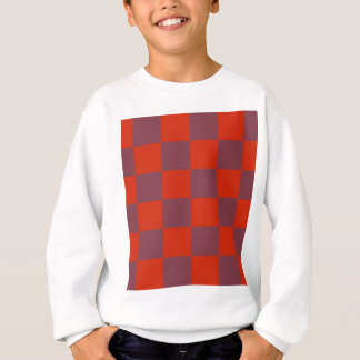 Funky Red Plum Blocks Sweatshirt