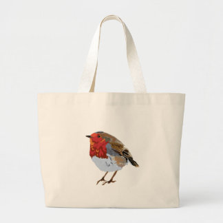 Funky Red Robin Large Tote Bag