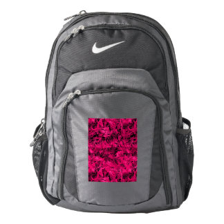 Funky Retro Abstract Magenta Rose Posie Pink Backpack